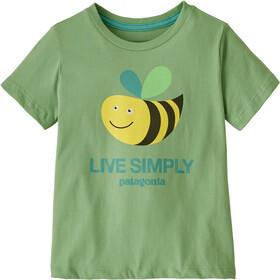 Patagonia Live Simply Organic Camiseta Niños, verde